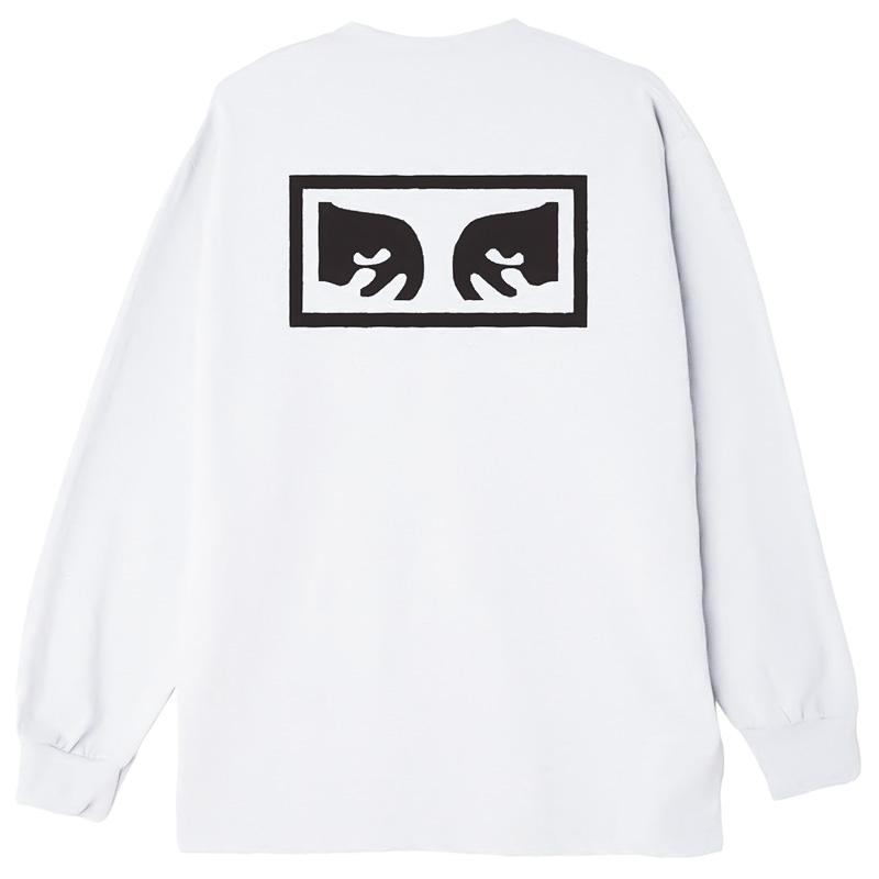 Obey Eyes 3 Longsleeve T-Shirt White