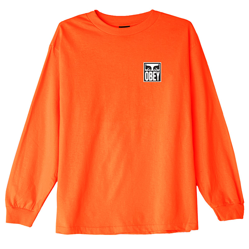 Obey Eyes Icon 2 T-Shirt Saftey Orange