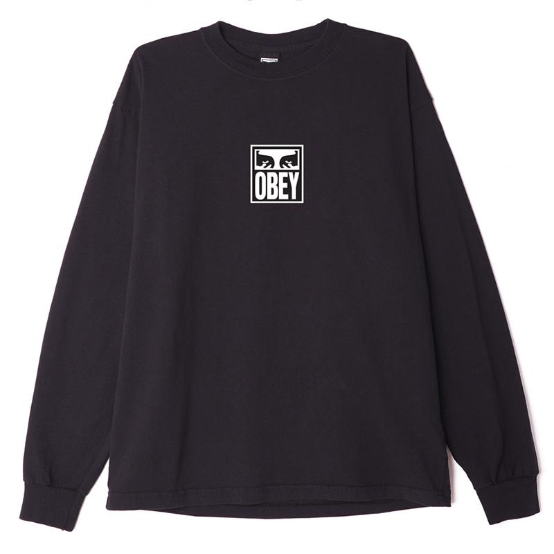 Obey Eyes Icon 3 Longsleeve T-Shirt Off Black