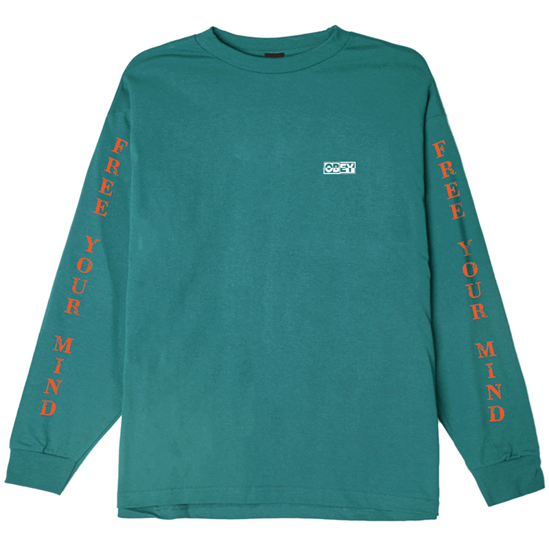 Obey Free Your Mind Longsleeve T-shirt Teal