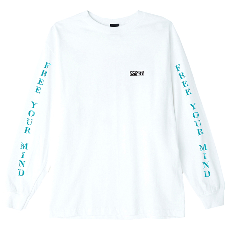 Obey Free Your Mind Longsleeve T-shirt White
