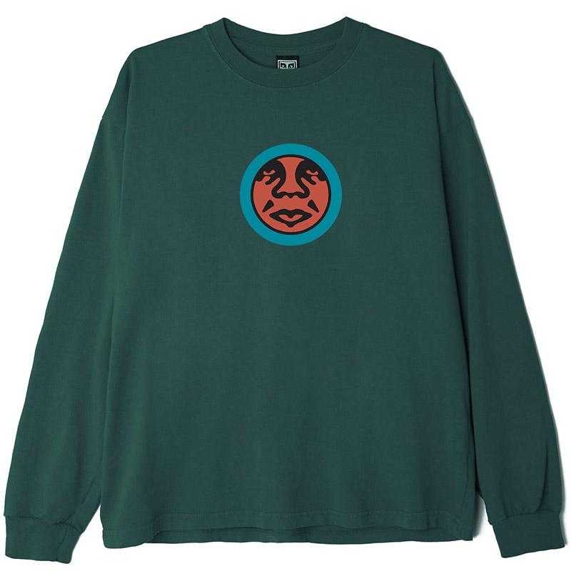 Obey Icon Face Longsleeve T-Shirt Mallard Green