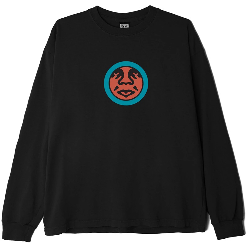 Obey Icon Face Off Longsleeve T-Shirt Black