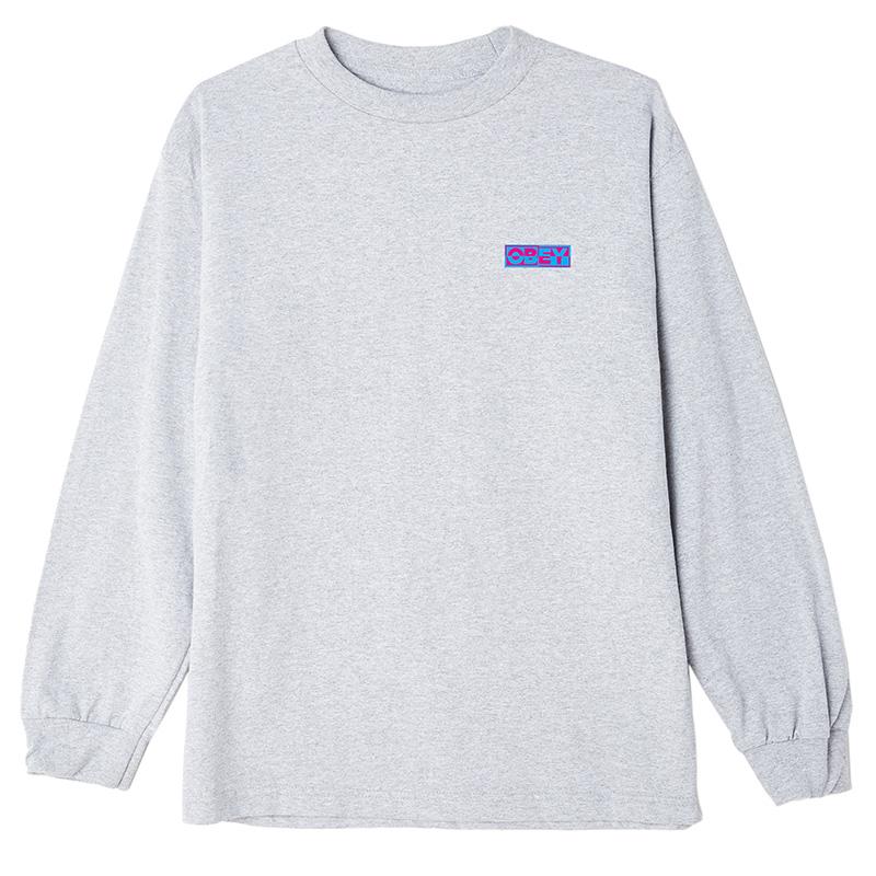 Obey Inside Out Obey Longsleeve T-Shirt Heather Grey