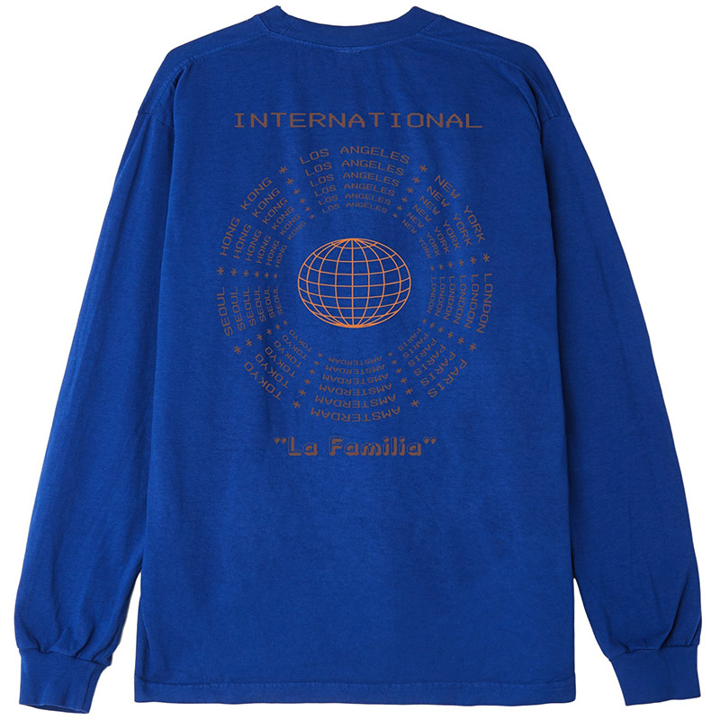 Obey La Familia Longsleeve T-Shirt Royal Blue