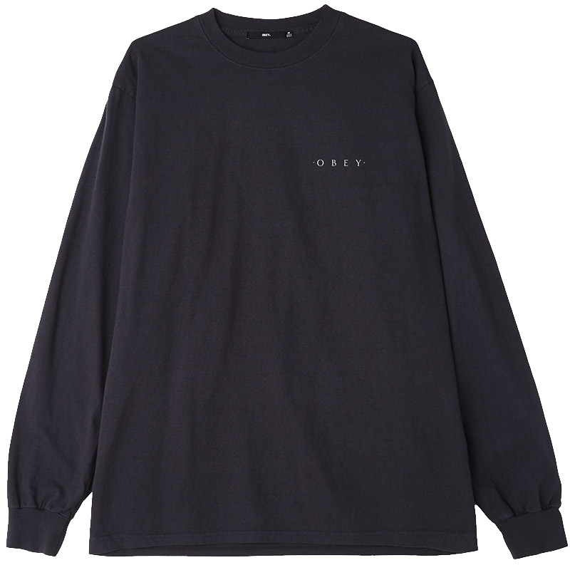 Obey Novel Obey 3 Longsleeve T-Shirt Off Black