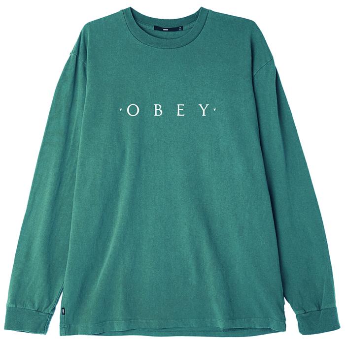Obey Novel OBEY Longsleeve T-shirt Dusty Teal Blue