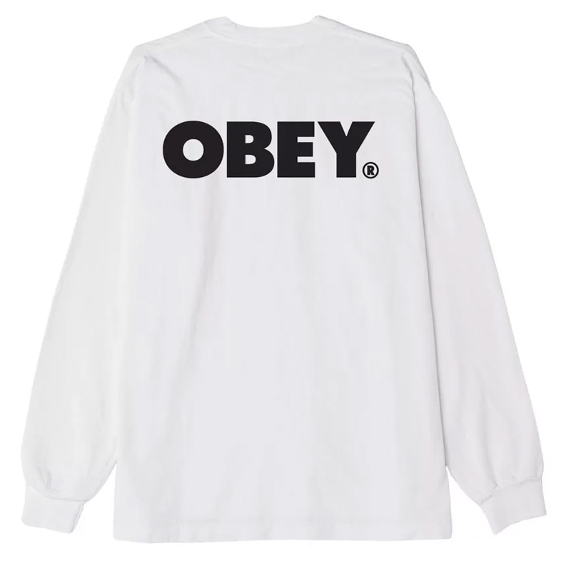 Obey Obey Bold Longsleeve T-Shirt White
