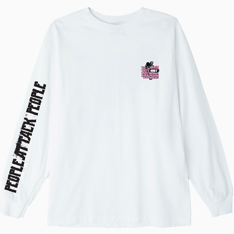 Obey People Attack People Longsleeve T-shirt White