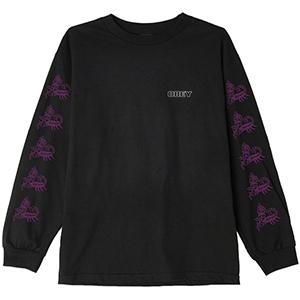 Obey Scorpion Rose Longsleeve T-shirt Black