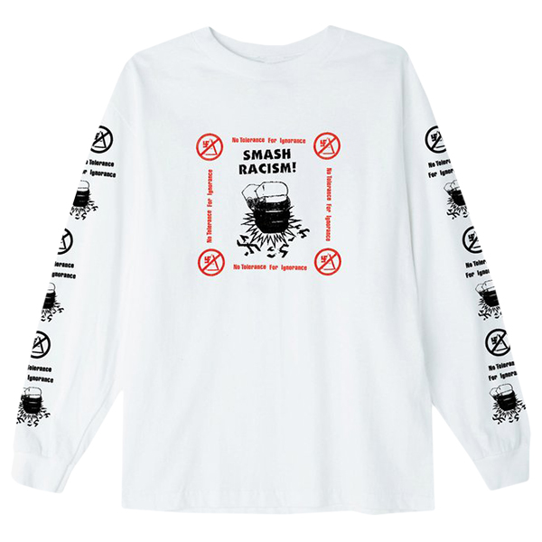 Obey Smash Racism Longsleeve T-shirt White