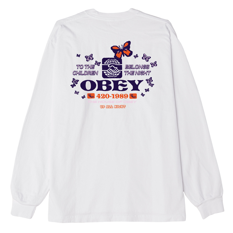 Obey To The Children Longsleeve T-Shirt White