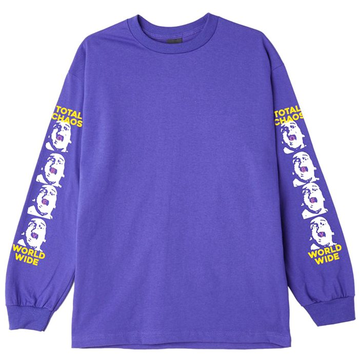 Obey Total Chaos Longsleeve T-shirt Purple