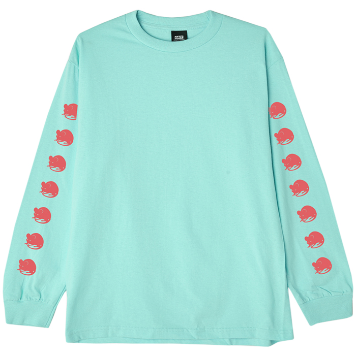 Obey Wall Of Death Longsleeve T-shirt Celadon