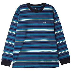 Obey Waterfall Claic Longsleeve T-shirt Dark Teal Multi