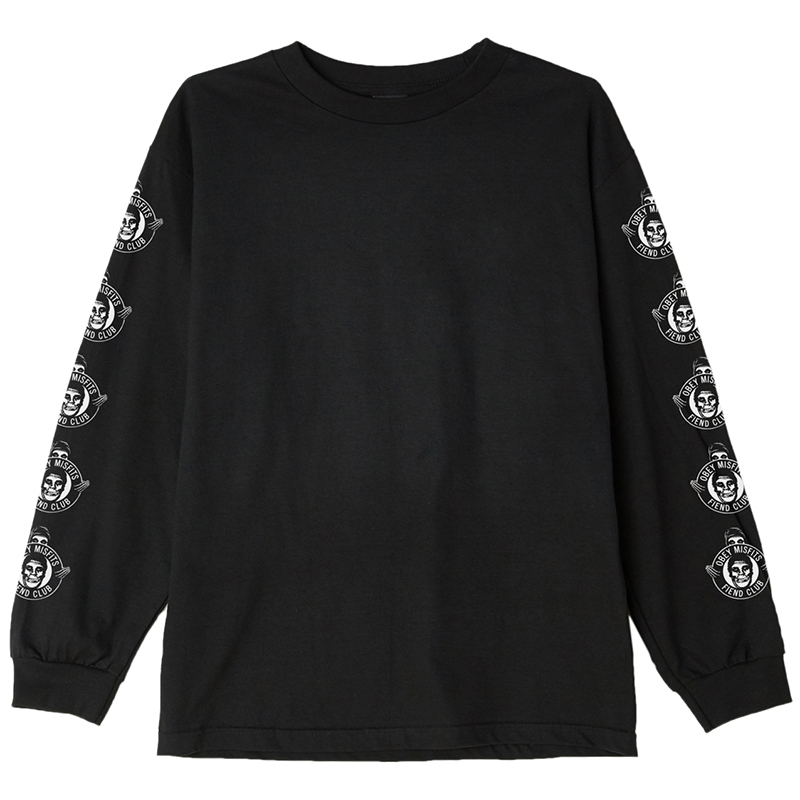 Obey X Misfits Fiend Club Longsleeve T-shirt Black