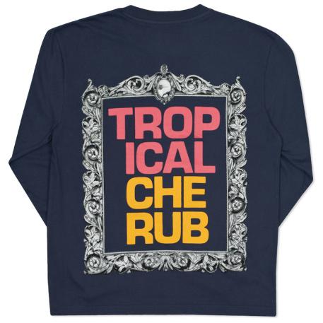 Palace Tropical Cherub Longsleeve T-shirt Navy