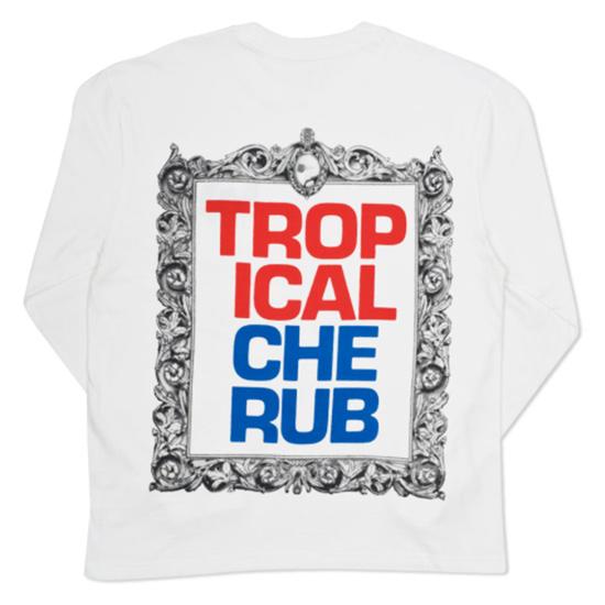 Palace Tropical Cherub Longsleeve T-shirt White