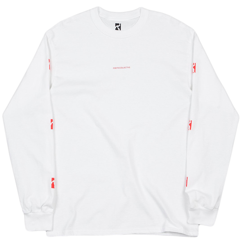 Poetic Longsleeve T-Shirt White/Red