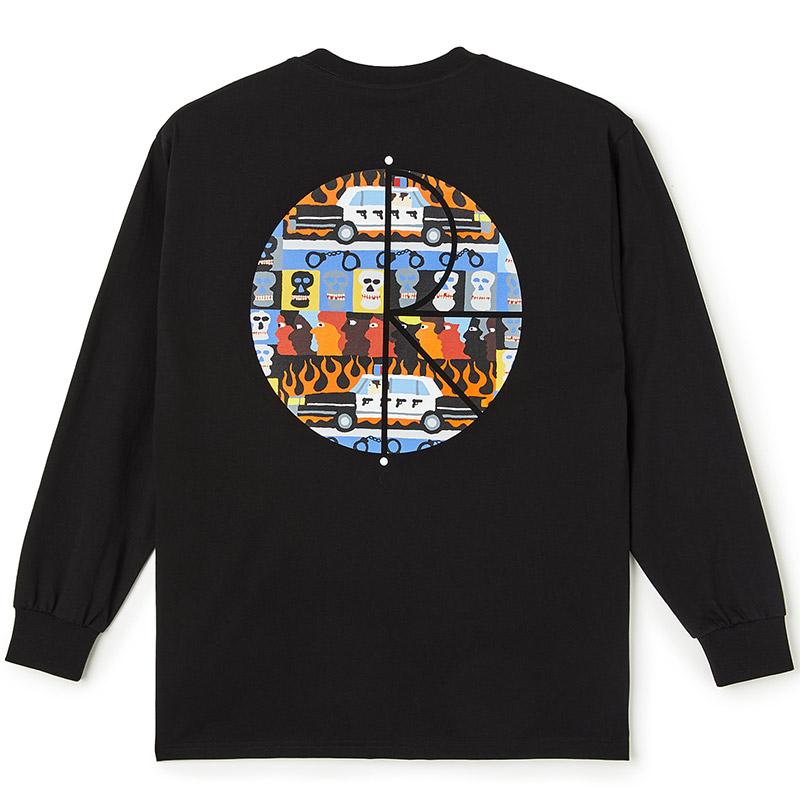 Polar ACAB Fill Logo Longsleeve T-Shirt Black