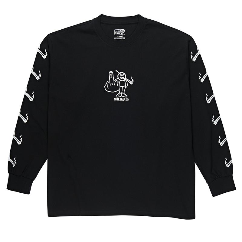 Polar Angry Stoner Longsleeve T-Shirt Black