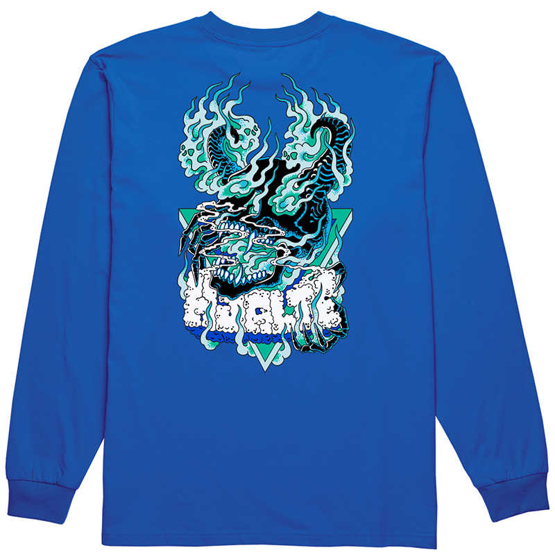 Polar Beast Mode Longsleeve T-Shirt 80's Blue