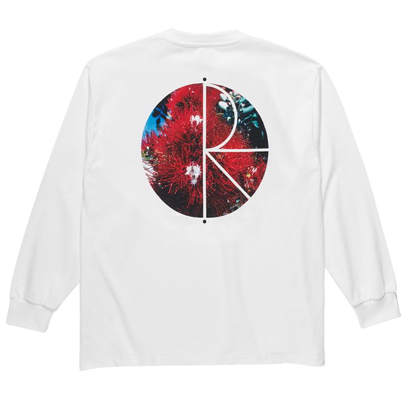 Polar Callistemon Fill Logo Longsleeve T-Shirt White