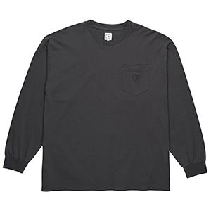 Polar Garment Dyed Pocket Longsleeve T-Shirt Washed Black