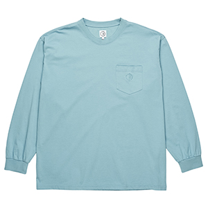 Polar Garment Dyed Pocket Longsleeve T-Shirt Washed Teal