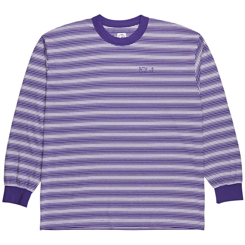 Polar Gradient Longsleeve T-Shirt Deep Purple/White