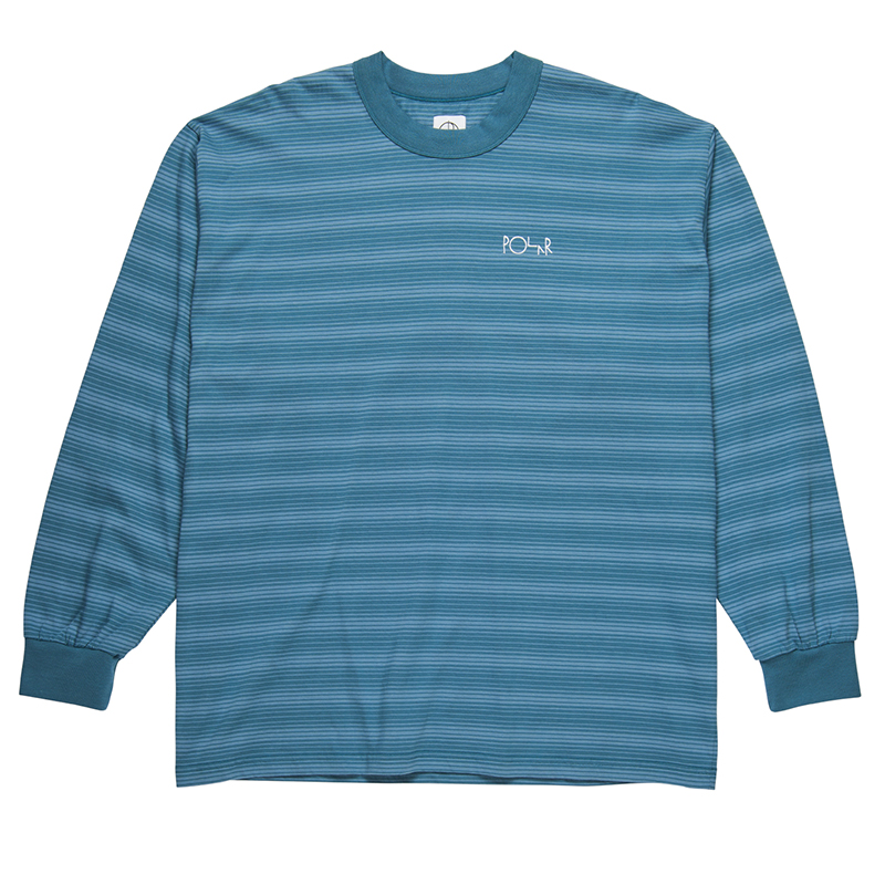 Polar Gradient Longsleeve T-Shirt Grey Blue