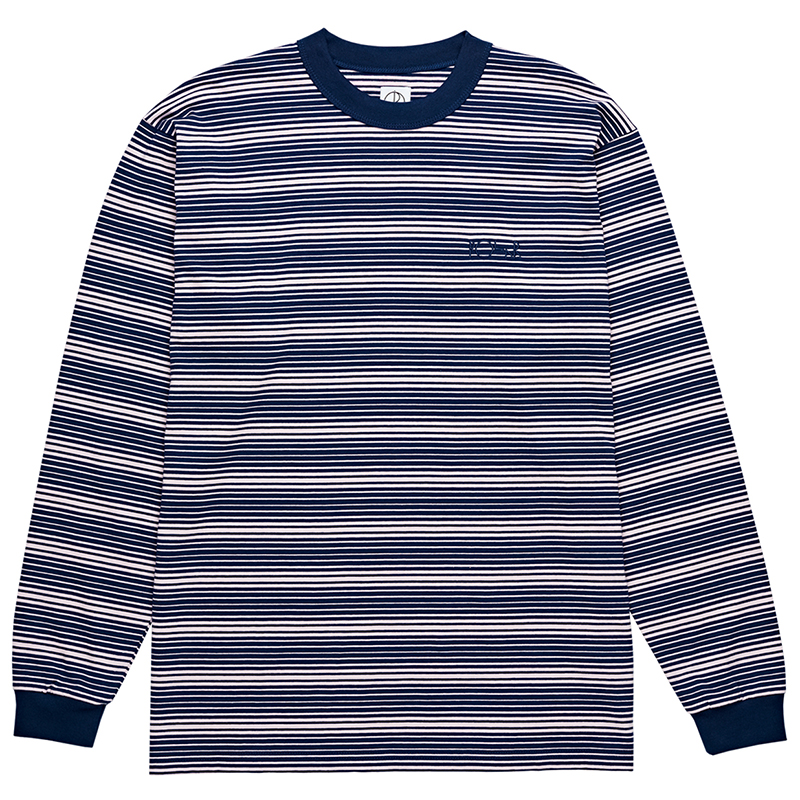 Polar Gradient Longsleeve T-Shirt Navy/Pale Pink