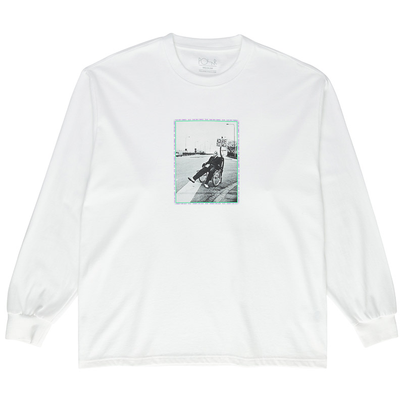 Polar Kidney Longsleeve T-Shirt White