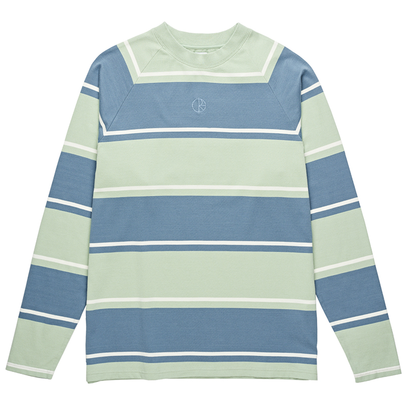Polar Kurt Longsleeve T-Shirt Captains Blue/Frosty Green