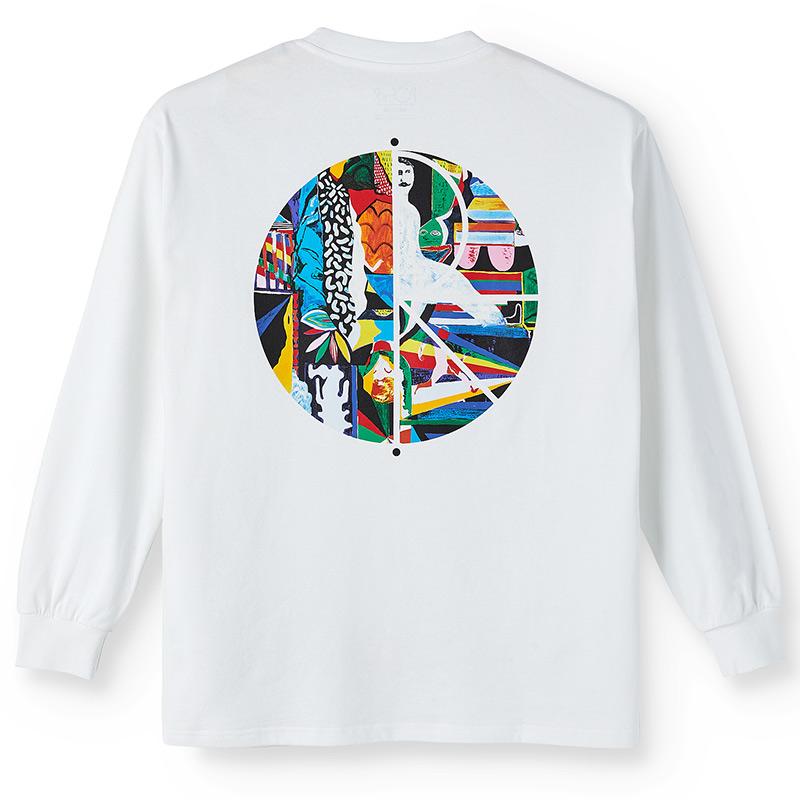Polar Memory Palace Fill Logo Longsleeve T-Shirt White