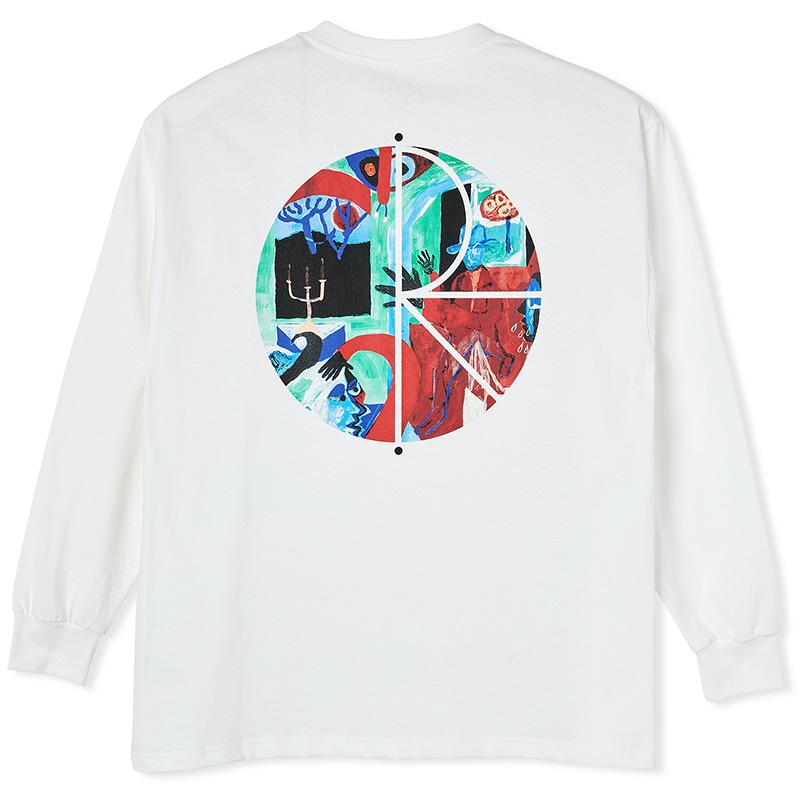 Polar Moth House Fill Logo Longsleeve T-Shirt White