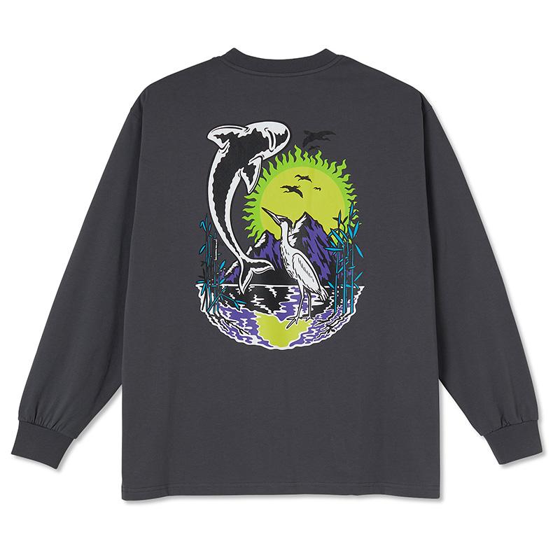 Polar Mt. Fuji Longsleeve T-Shirt Graphite