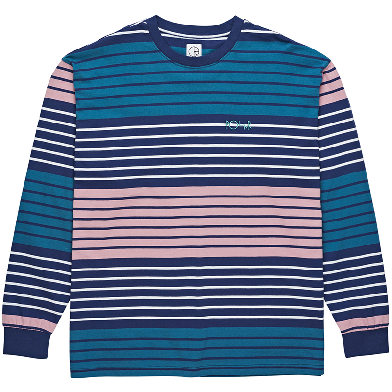 Polar Multi Colour Longsleeve T-Shirt Navy/Pink