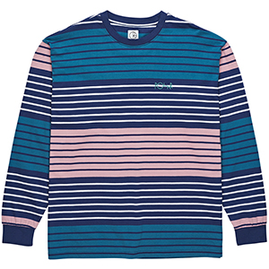 Polar Multi Colour Longsleeve T-Shirt Navy/Pink