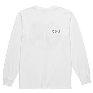 Polar Orchid Fill Logo Longsleeve T-Shirt White