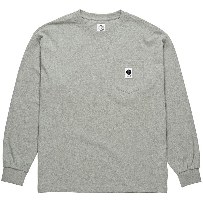 Polar Pocket Longsleeve T-Shirt Heather Grey
