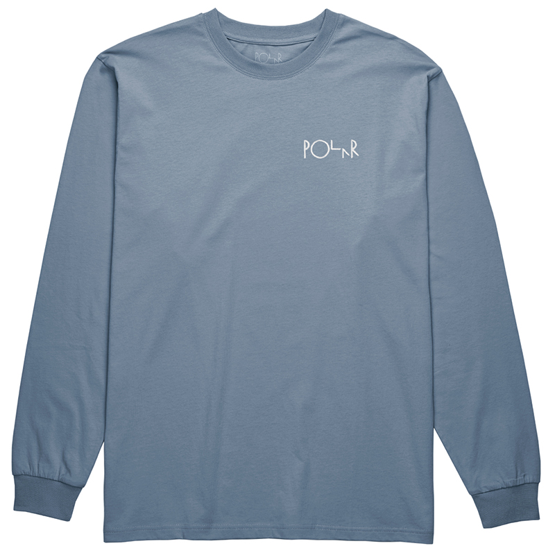 Polar Script Logo Longsleeve T-Shirt Captains Blue