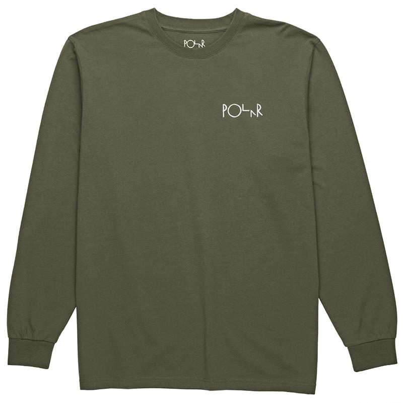Polar Script Logo Longsleeve T-Shirt Dusty Olive