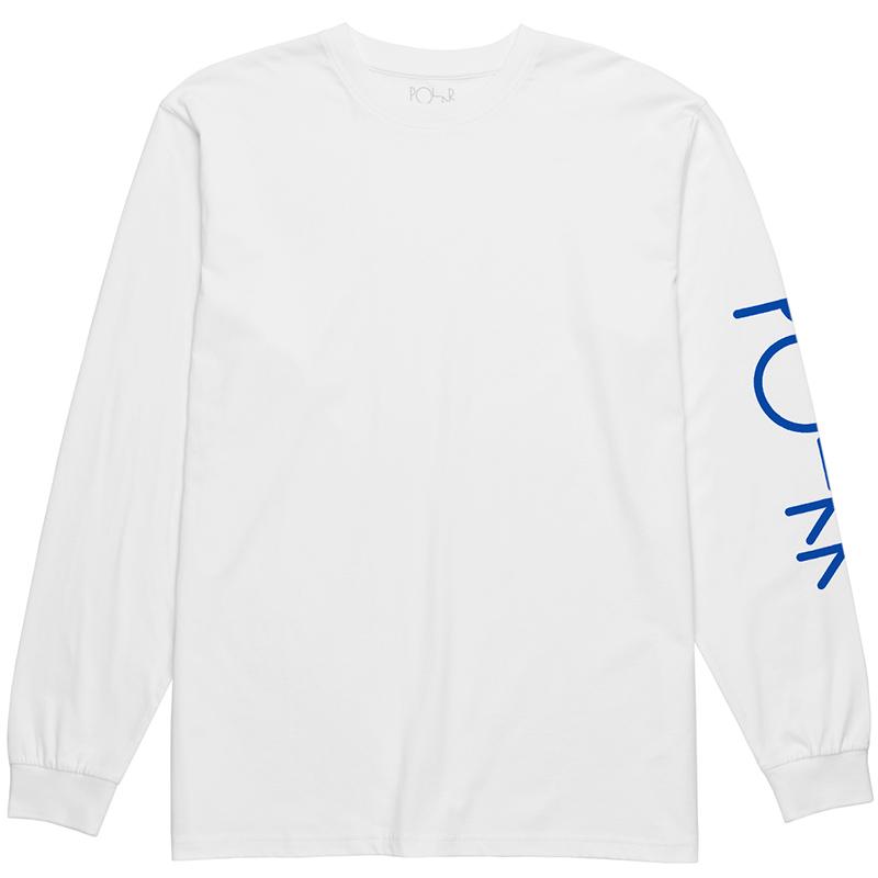 Polar Script Logo Longsleeve T-Shirt White