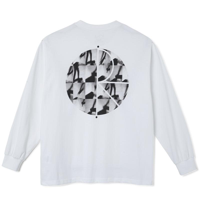 Polar Sequence Fill Logo Longsleeve T-Shirt White