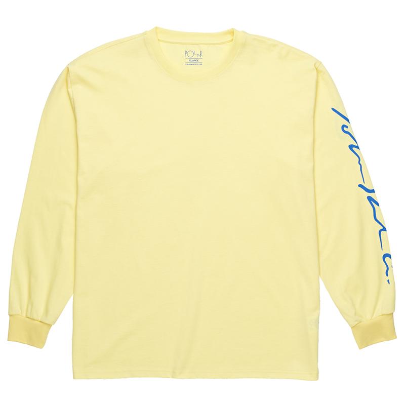 Polar Signature Longsleeve T-Shirt Light Yellow