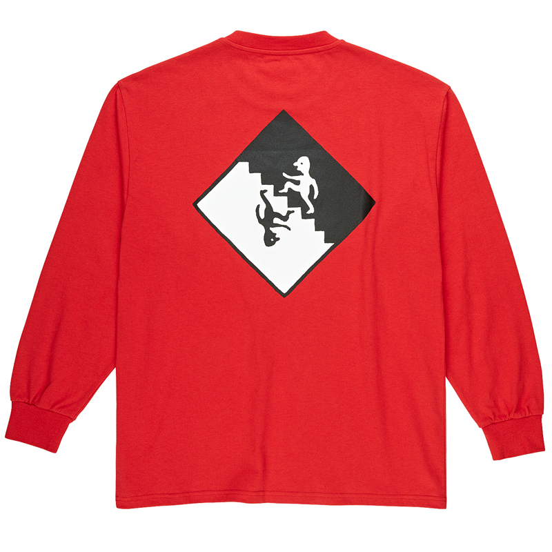 Polar Staircase Longsleeve T-Shirt Red