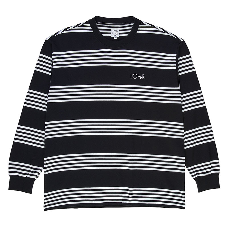 Polar Striped Longsleeve T-Shirt Black