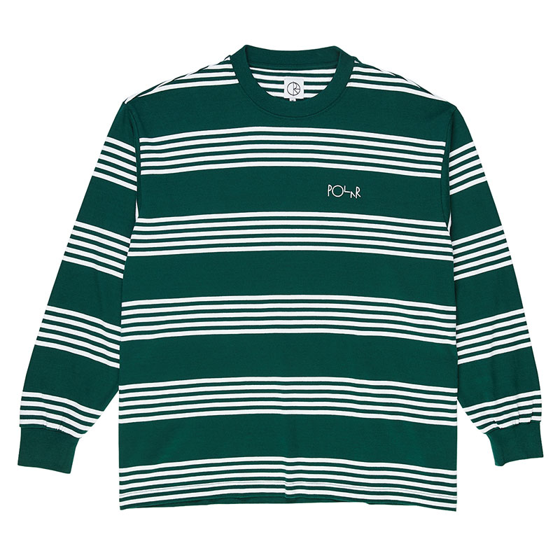 Polar Striped Longsleeve T-Shirt Dark Green