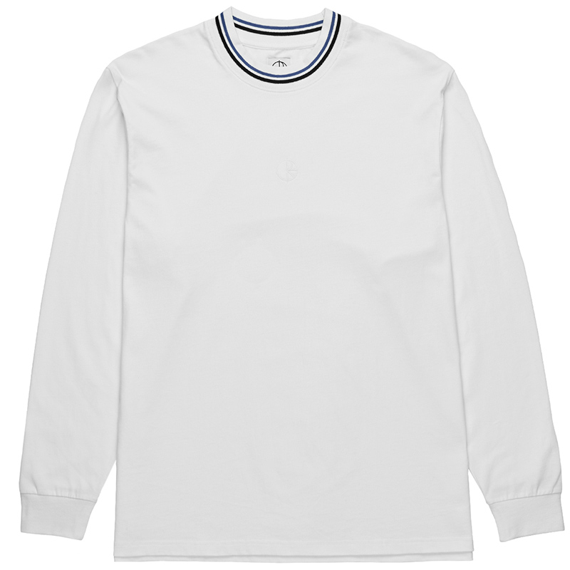 Polar Striped Rib Longsleeve T-Shirt White